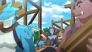 TVアニメ「月が導く異世界道中」より、亜空の様子。