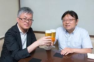 左から武川新吾、沢考史。