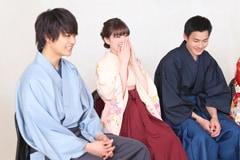 左から佐野勇斗、優希美青、野村周平。