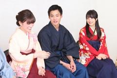 左から優希美青、野村周平、広瀬すず。