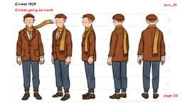アーネストのキャラクター設定画。
