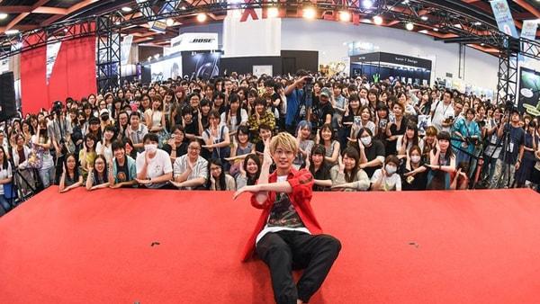 台湾漫画博覧会に参加した江口拓也。