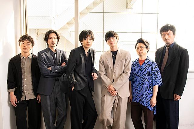 左から松居大悟、若葉竜也、成田凌、高良健吾、浜野謙太、目次立樹。