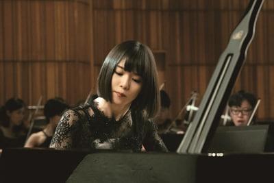 「蜜蜂と遠雷」より、松岡茉優演じる栄伝亜夜。