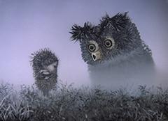「霧の中のハリネズミ」より。