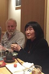 2016年10月にユーリー・ノルシュテインが来日した際の様子。右が児島宏子。
