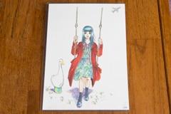 羽賀翔一が描いた池田エライザの似顔絵。