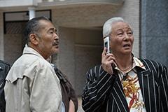 左から龍三親分、若頭のマサ(近藤正臣)。