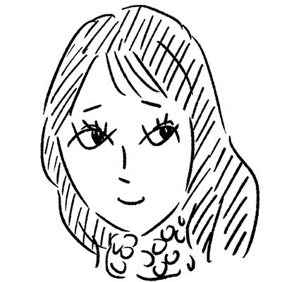 大橋裕之が描いた吉岡里帆の似顔絵イラスト。