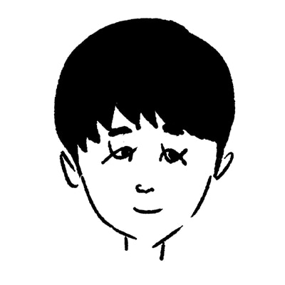 大橋裕之が描いた鈴木福の似顔絵イラスト。