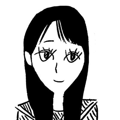 大橋裕之が描いた南沙良の似顔絵イラスト。