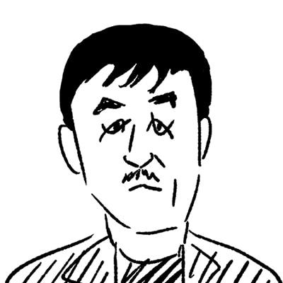 大橋裕之が描いたピエール瀧の似顔絵イラスト。