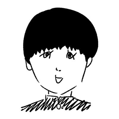 大橋裕之が描いた森優作の似顔絵イラスト。