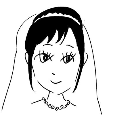 大橋裕之が描いた木竜麻生の似顔絵イラスト。