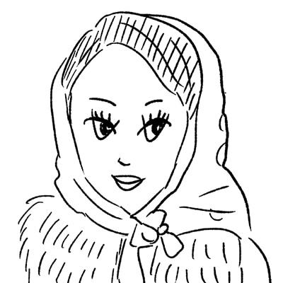 大橋裕之が描いた倖田來未の似顔絵イラスト。
