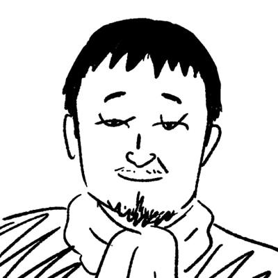 大橋裕之が描いた竹原ピストルの似顔絵イラスト。