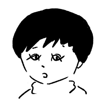 大橋裕之が描いた潤浩の似顔絵イラスト。