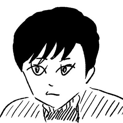 大橋裕之が描いた渡辺佑太朗の似顔絵イラスト。