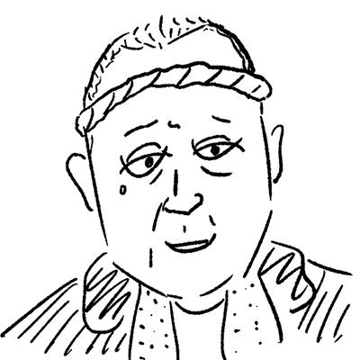 大橋裕之が描いた國村隼の似顔絵イラスト。