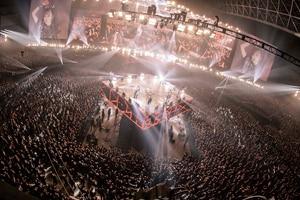 BABYMETAL「METAL GALAXY WORLD TOUR IN JAPAN EXTRA SHOW『LEGEND - METAL GALAXY』」の様子。(Photo by Taku Fujii)