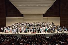 5月7日に行われた「BRA★BRA FINAL FANTASY BRASS de BRAVO 2016 with Siena Wind Orchestra」東京・東京文化会館 大ホール公演の様子。