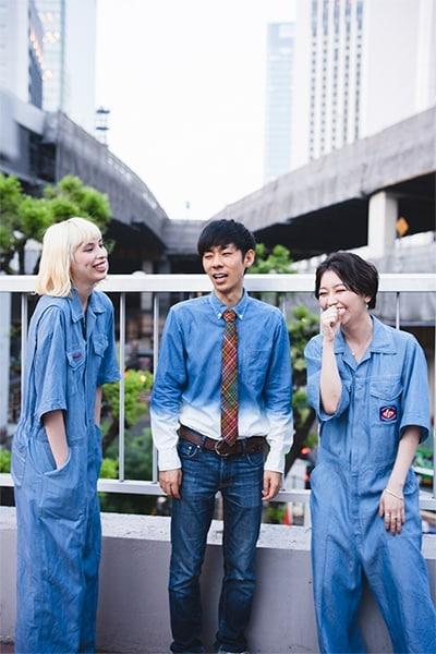 左からRachel、森本晋太郎、Mamiko。