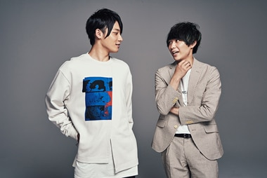 左からみやかわくん、須賀健太。