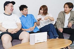 左から奥真人、熊木幸丸、大瀧真央、松崎浩二。