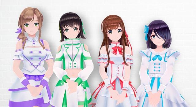 えのぐ(左から夏目ハル、日向奈央、白藤環、鈴木あんず)