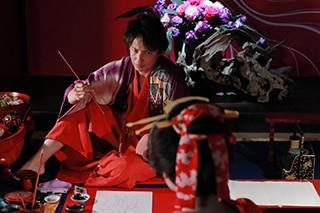 映画「HOKUSAI」より、玉木宏演じる喜多川歌麿。