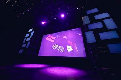 「2nd D.R.B」の映像ライブビューイングの様子。