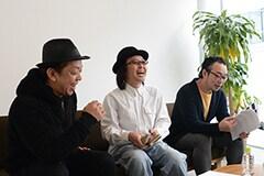 座談会の様子。左からフジジュン、大野ケイスケ、宇野維正。
