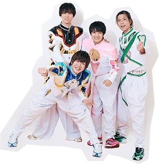 左から水野勝、田村侑久、本田剛文、吉原雅斗(BOYS AND MEN)。