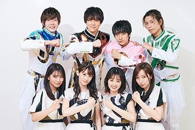 上段左から田村侑久、水野勝、本田剛文、吉原雅斗、下段左から坂本遥奈、秋本帆華、咲良菜緒、大黒柚姫。