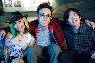 左からNENE、角田晃広(東京03)、STUTS。(Photo by seiji shibuya)