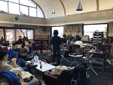 アルバムのレコーディング部屋。