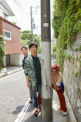 左から佐藤渉、森山直太朗、兼近大樹(EXIT)。