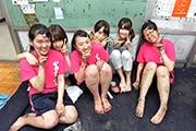 川口高校での初練習の様子。