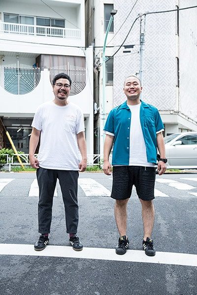 左から高橋一(思い出野郎Aチーム)、岡部大(ハナコ)。