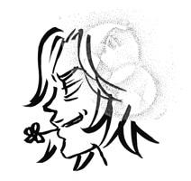 ジョージ朝倉の自画像。