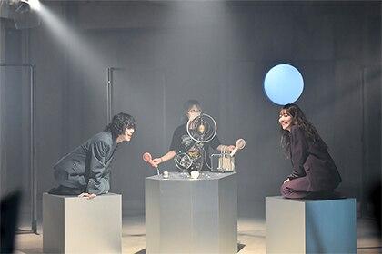 「星座して二人」ミュージックビデオの撮影の様子。