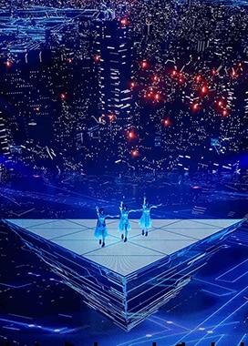 ワンマンライブ「Perfume LIVE 2021 [polygon wave]」より、「TOKYO GIRL」のパフォーマンスの様子。(撮影:上山陽介)