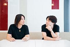 左から岡ナオキ、茂木伸太郎。