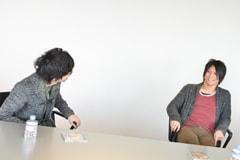 左からのび太、田淵智也。
