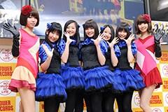 2012年2月に行われた東京女子流2ndアルバム「Limited addiction」発表記者会見の様子。