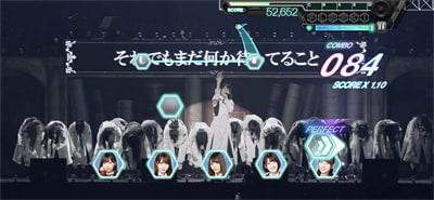 ゲーム内「『走り出す瞬間』ツアー2018」より「期待していない自分」のワンシーン。
