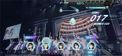 ゲーム内「日向坂46 3rdシングル発売記念ワンマンライブ」より「ドレミソラシド」のワンシーン。