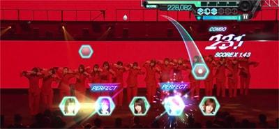 ゲーム内「欅坂46 3rd YEAR ANNIVERSARY LIVE」より「Nobody」のワンシーン。