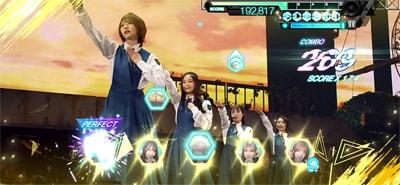 ゲーム内「欅坂46 LIVE at 東京ドーム ~ARENA TOUR 2019 FINAL~」より「結局、じゃあねしか言えない」のワンシーン。