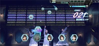 ゲーム内「日向坂46 3rdシングル発売記念ワンマンライブ」より「やさしさが邪魔をする」のワンシーン。